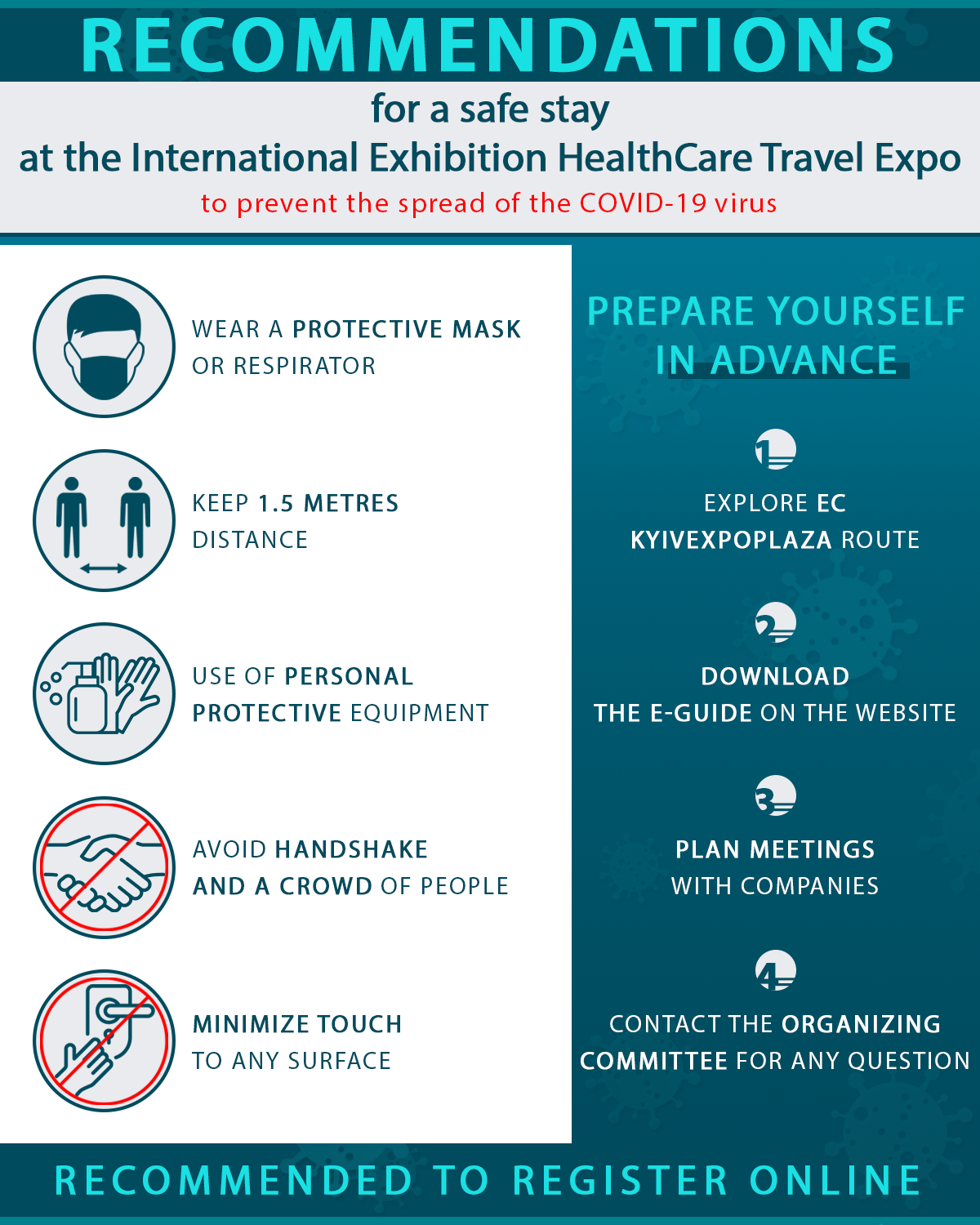 Recommended Rules for Safe Stay at the Exhibition
