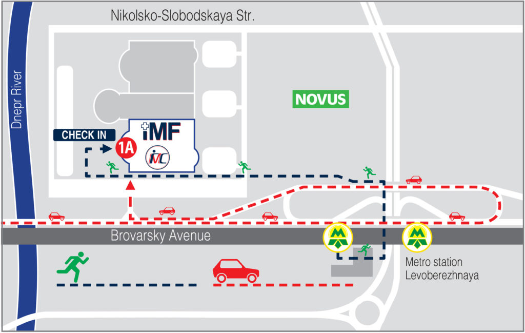 How to get to the MedForum in the International Exhibition Center